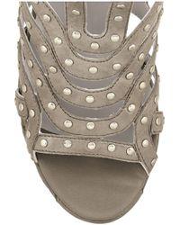 Camilla Skovgaard - Metallic Studded Leather Wedge Sandals - Lyst