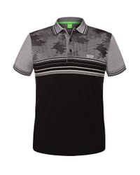 BOSS Green - Black 'paule' | Slim Fit, Cotton Polo Shirt By Boss for Men - Lyst