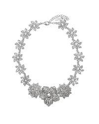 Nina - Metallic Orchid Necklace - Lyst