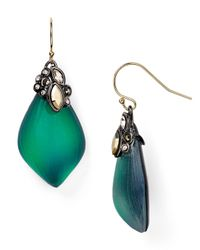 Alexis Bittar | Green Crystal Lace Capped Lucite Earrings | Lyst