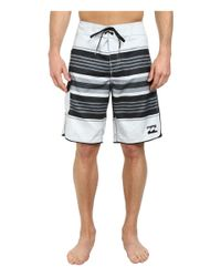 "Billabong - Metallic All Day Stripe 21"" Boardshort for Men - Lyst"