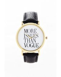 Forever 21 Metallic Faux Leather Statement Watch