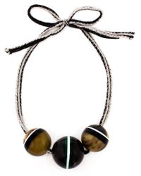 Marni   Black Horn Sphere Necklace   Lyst