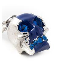 Alexander McQueen - Blue Skull Pendant Necklace - Lyst