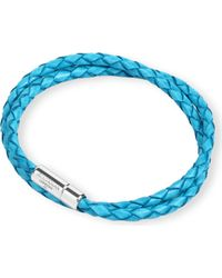 Tateossian - Blue Braided Leather Bracelet - For Men - Lyst