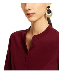 Tory Burch - Metallic Disc Earring - Lyst