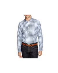 Brooks Brothers | Blue Heathered Gingham Regular Fit Button Down Shirt for Men | Lyst