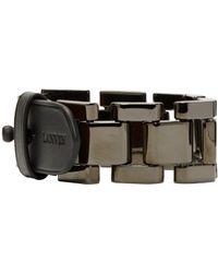 Lanvin | Metallic Gunmetal Oyster Link Bracelet for Men | Lyst