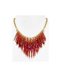 Aqua | Pink Pammy Fireworks Necklace, 14"
