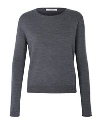Dorothee Schumacher | Gray Cutting Edge Pullover O-neck 1/1 | Lyst