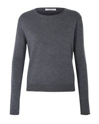 Dorothee Schumacher - Gray Cutting Edge Pullover O-neck 1/1 - Lyst
