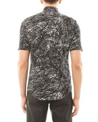 Balenciaga - White Noise Print Short Sleeve Shirt for Men - Lyst