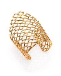 Alexis Bittar | Metallic Miss Havisham Liquid Asymmetrical Barbed Link Cuff Braceletgoldtone | Lyst