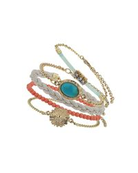 TOPSHOP | Orange Festival Bracelet Pack | Lyst