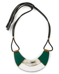 Marni - Green Contrasting Panel Necklace - Lyst