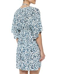 Tory Burch - Blue Sierra Printed Drawstring Tunic Coverup - Lyst