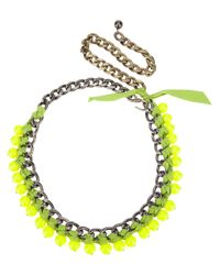 Lanvin | Green Chain Necklace | Lyst