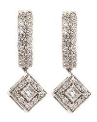 Charriol - Metallic Rhombus-Drop Diamond-Hoop Earrings - Lyst