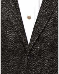 Bellfield | Gray 2 Button Jacket In Herringbone for Men | Lyst