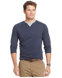 Izod | Blue Big And Tall Raglan Crew-neck Long-sleeve T-shirt for Men | Lyst