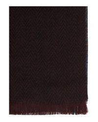 Ted Baker - Red Plain Scarf for Men - Lyst