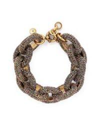 J.Crew | Metallic Pavé Chunky Chainlink Bracelet | Lyst