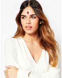 ASOS | Metallic 70S Drop Hair Crown | Lyst