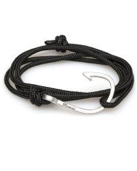 Miansai | Black Rope Silver Hook Bracelet for Men | Lyst