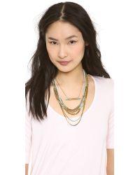 Serefina - Beaded Layer Set Necklace Bronzeblue - Lyst