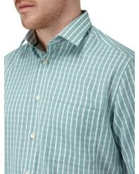 Skopes - Green Check Classic Fit Short Sleeve Classic Collar Shi for Men - Lyst