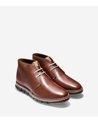 Cole Haan - Brown Zerøgrand Stitch Out Chukka for Men - Lyst