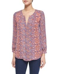 Joie | Multicolor Pazima Floral-print Silk Top | Lyst