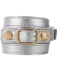 Balenciaga | Metallic Arena Giant Double Tour Wrap Bracelet | Lyst