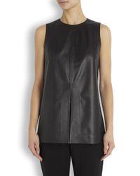 Proenza Schouler | Black Split Leather Top | Lyst
