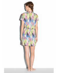 MILLY - Multicolor Marble Palmones Deep V Dress - Lyst