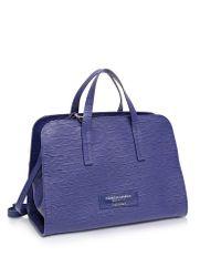 Francesco Biasia - Purple Kenton Large Leather Satchel Bag - Lyst