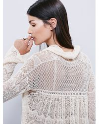Free People | Natural Womens Rain Fall Cowl Neck Pullover | Lyst