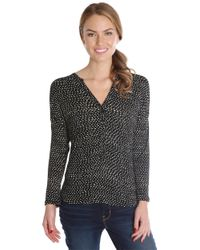 Lucky Brand - Black Etched Geo Henley - Lyst