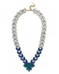 BaubleBar | Blue Marble Garland Brooch Collar-navy | Lyst