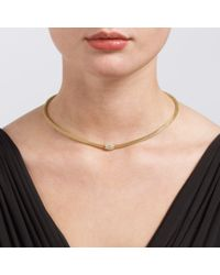 John Lewis - Metallic Fine Diamante Effervescent Necklace - Lyst