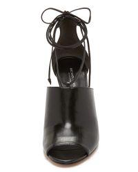 Michael Kors   Black Venice Wrap Sandals   Lyst