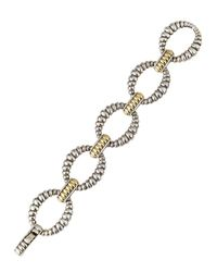 Lagos | Metallic Caviar 'superfine' Two-tone Line Bracelet | Lyst