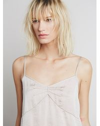 Free People - Natural Basic Satin Slip - Lyst