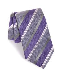 Eton of Sweden | Purple Stripe Silk & Wool Tie for Men | Lyst