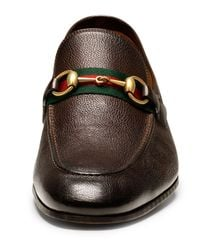 Gucci - Brown Elanor Leather Horsebit Loafer for Men - Lyst