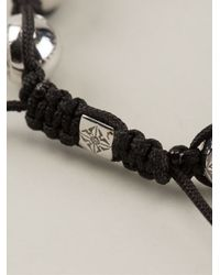 Shamballa Jewels - Black 18k Gold Diamond Bracelet for Men - Lyst