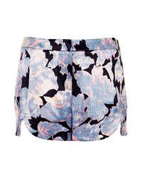 TOPSHOP - Multicolor Petite Chateau Femme Shorts - Lyst