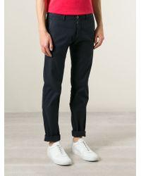 Stone Island | Blue Straight Leg Trousers for Men | Lyst