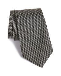 John Varvatos | Black Plaid Silk Tie for Men | Lyst