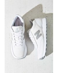 New Balance | Gray Leather Running Sneaker | Lyst